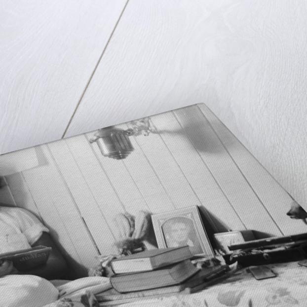 Elizabeth Jacobsen in her bunk by Alan Villiers