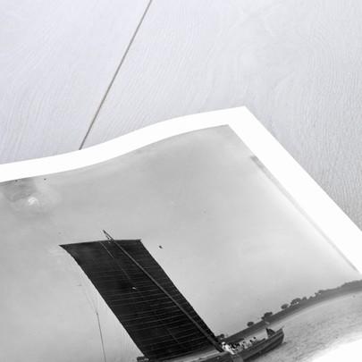A single-masted junk underway near Wusong by Kenneth Hurlstone Jones