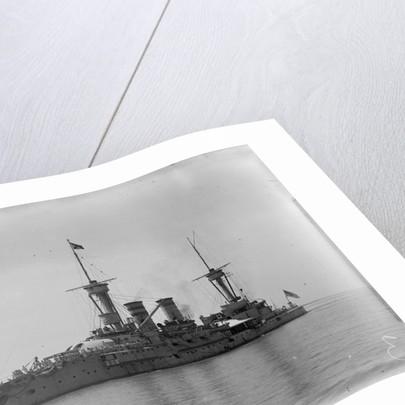 The German battleship 'Weissenburg' (1891) at anchor by Kenneth Hurlstone Jones