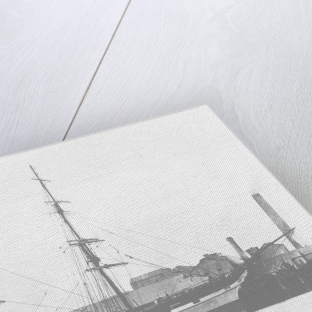 A three masted ship 'Loch Etive' (Br, 1877) at quayside by unknown