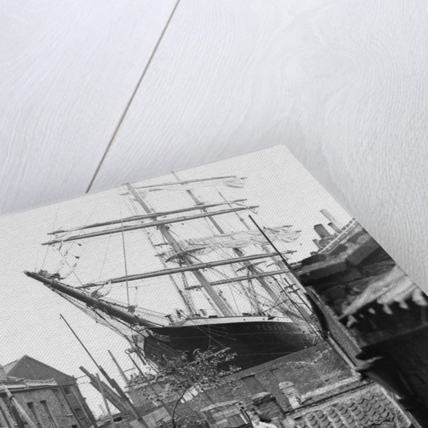 3-masted barque 'Penang' in dry dock at Millwall 1932 by unknown