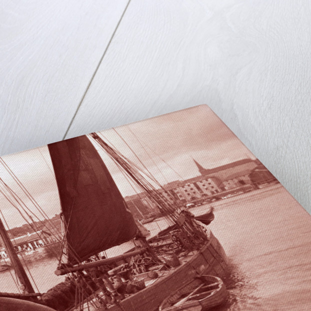 Photograph of 'Erycina' (1882) under sail in September 1934 off the Barbican, Plymouth by H Oliver Hill