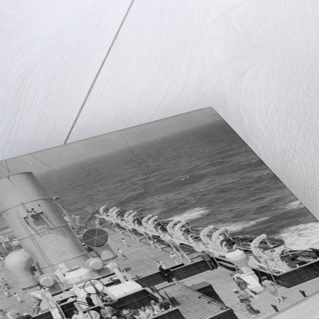 'Strathmore' looking aft from the foremast by Marine Photo Service