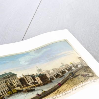 A prospect of the Custom House, and Essex Bridge, Dublin by Joseph Tudor