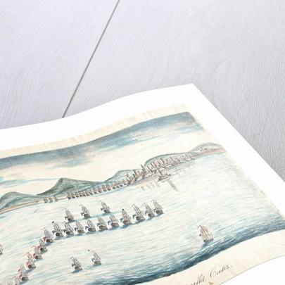 The English fleet blockading the Spanish port of Cadiz by unknown