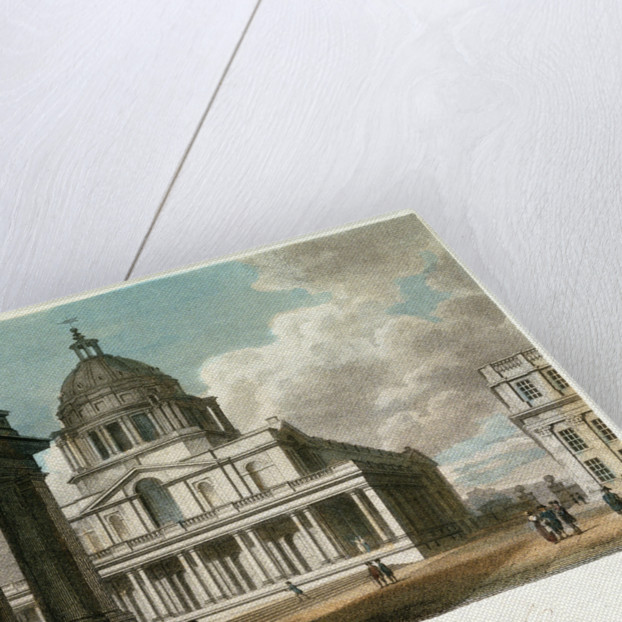 The Hall of Greenwich Hospital, Kent by Frederick Nash