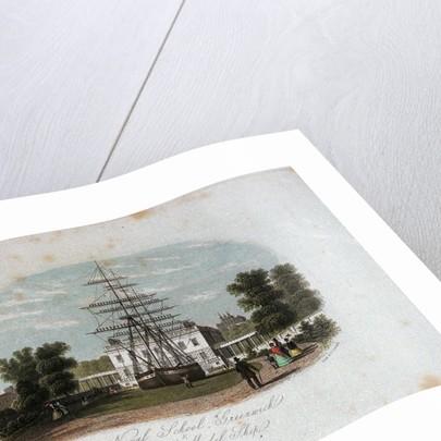 Naval School, Greenwich & Block Model Ship by Rock & Co.