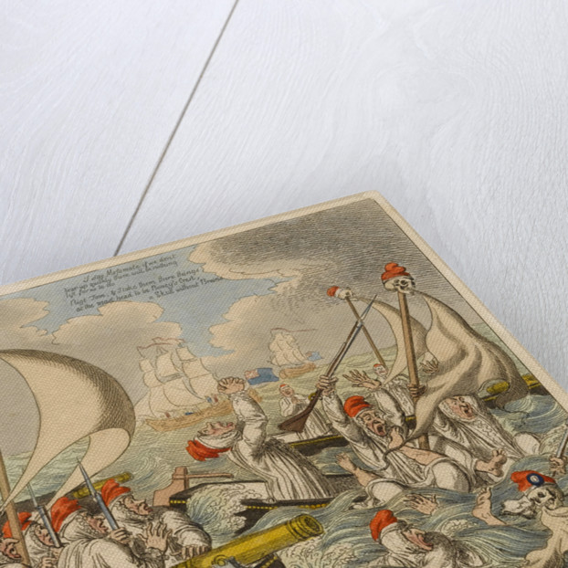 The Coffin Expedition or Boney's Invincible Armada Half Seas Over by S.W. Fores