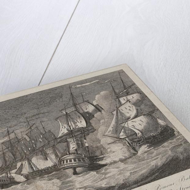 Capture of 'La Pomone', 'L' Engageante' & 'La Babet', 23 April 1794 by Joshua Cristall