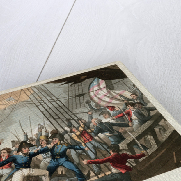 Boarding of the American ship 'Chesapeake' by the crew of HMS 'Shannon', commanded by Captain Broke, June 1813 by William Heath
