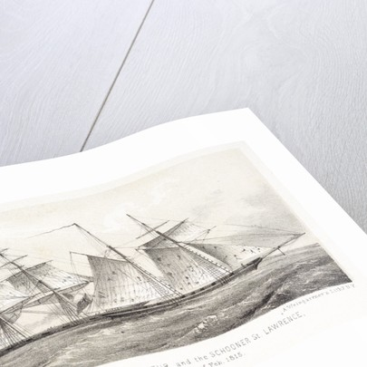 Battle between the Brig Chasseur and the schooner St. Lawrence, off Havanna on the 26th February 1815 by A. Weingartner