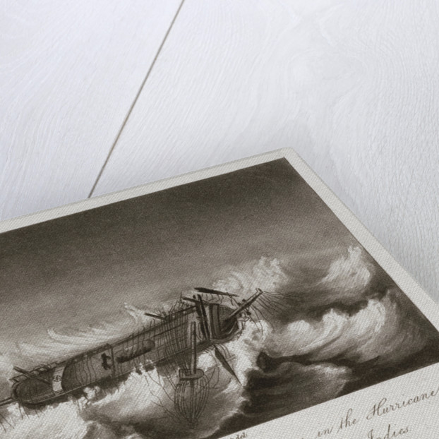HMS 'Theseus' in a hurricane in the West Indies, September 1804 by Edward Burt