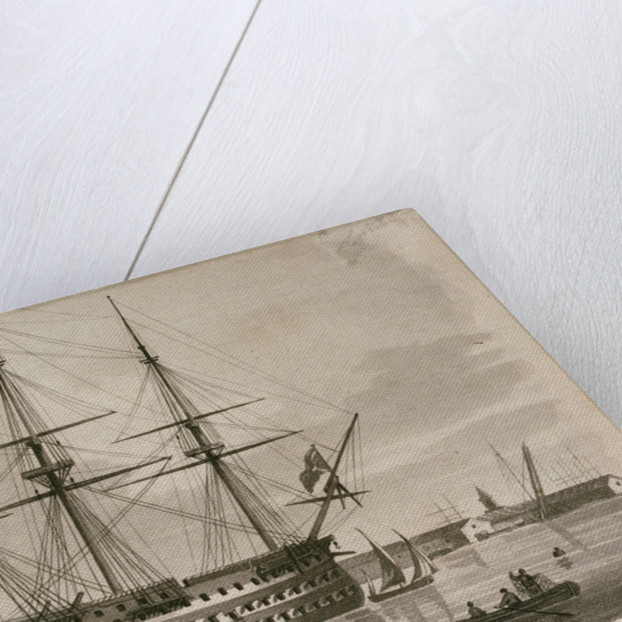 HMS 'Union' at anchor by Richard Speare