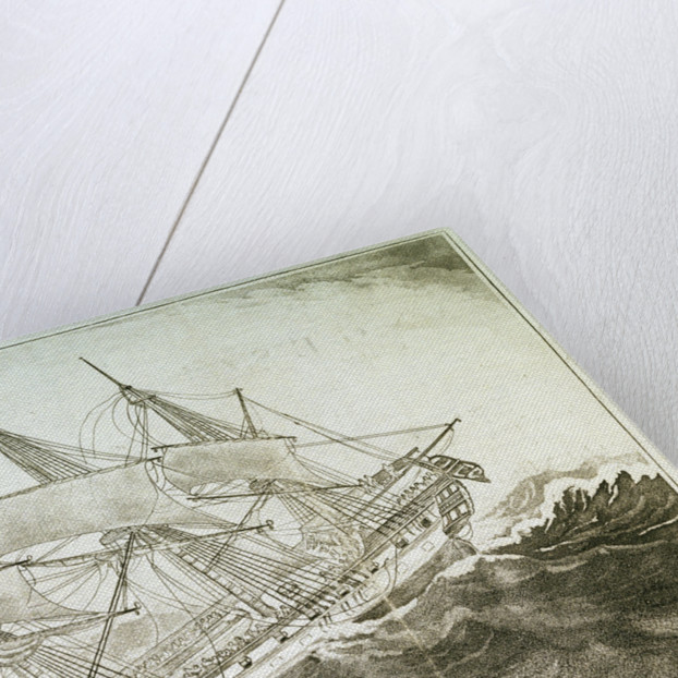 The East Indiaman 'Ganges' foundering in a gale by W.E.