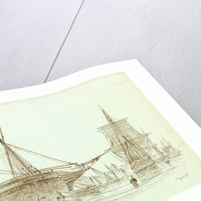 Etude dans le port. No.12 Etudes de Batimens by Mars Henry Bayard