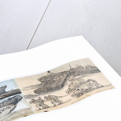 Old sails in bundles. At Dover Aug 1815 by William Payne