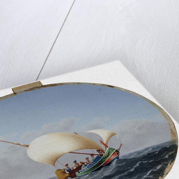 Lateen-rigged fishing boat, Gozo by Maltese School