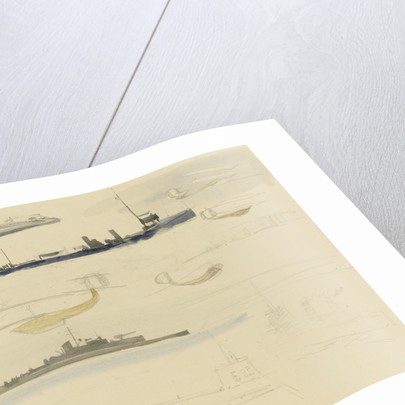 Rough sketches of fighting vessels and sea planes, 1914-1918 by William Lionel Wyllie