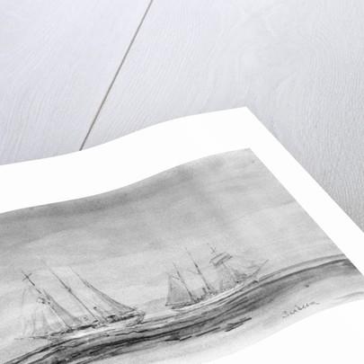 Study of yacht 'Sunbeam' by William Lionel Wyllie