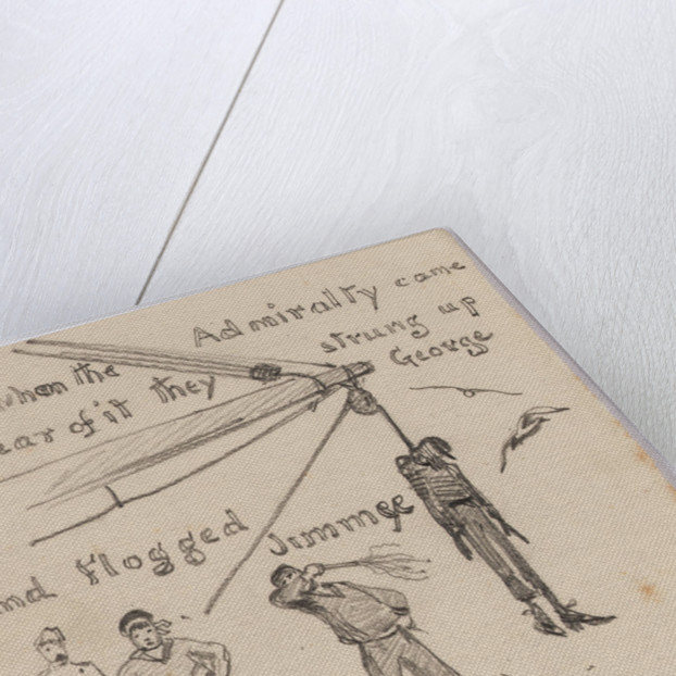 Three small drawings illustrating a cautionary tale... by William Lionel Wyllie