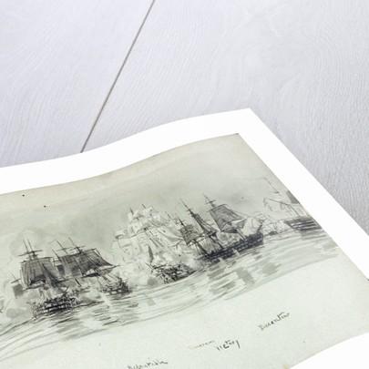 Named vessels at the Battle of Trafalgar 1805 by William Lionel Wyllie