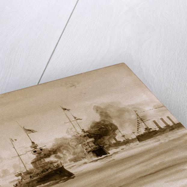 Visit of French fleet by William Lionel Wyllie