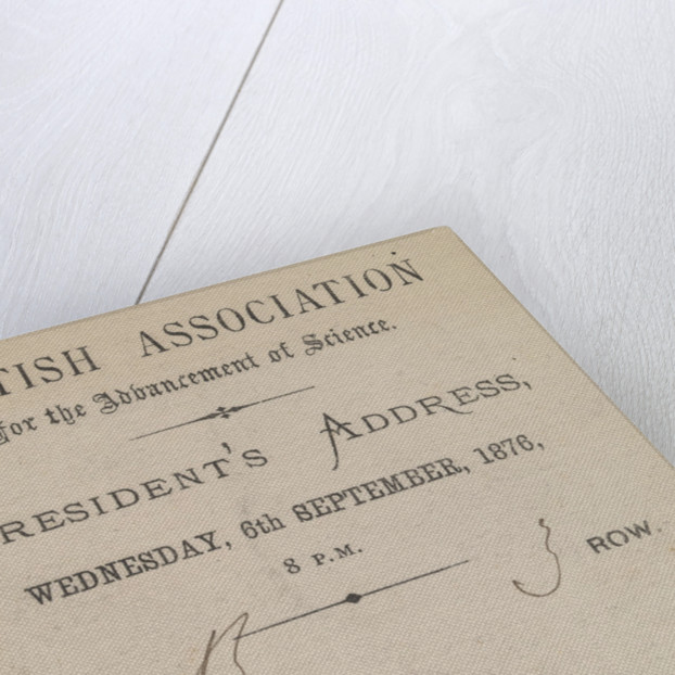 Invitation to the President's Address, British Association for the Advancement of Science, 6 September 1876 by Edward William Cooke