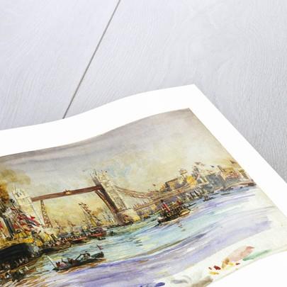Opening of Tower Bridge by William Lionel Wyllie