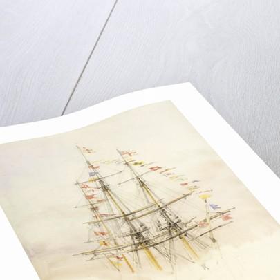 Masts of HMS 'Victory' by William Lionel Wyllie
