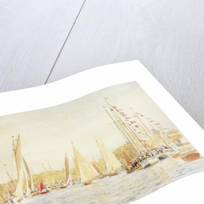 Hamble or Bursledon Regatta by William Lionel Wyllie
