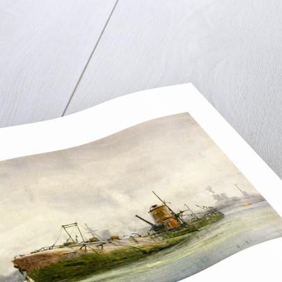 Hun submarine by William Lionel Wyllie