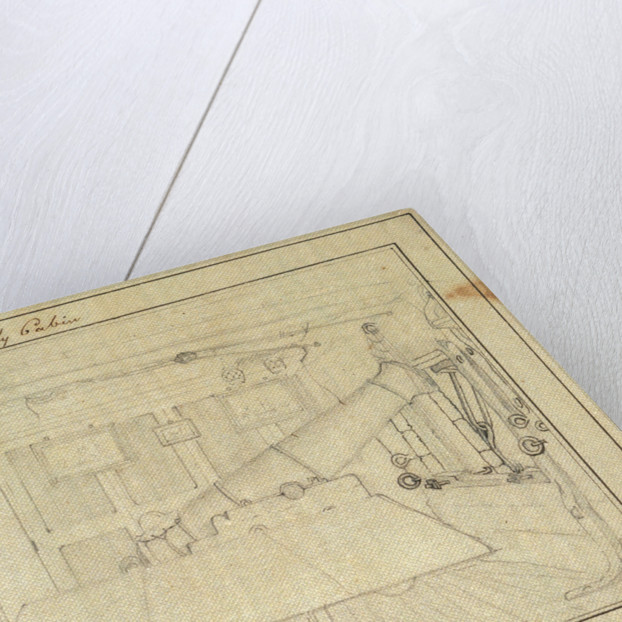 Sketch of accommodation in a vessel by Charles Copland