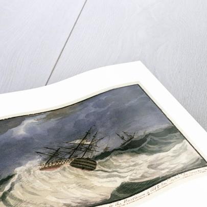 HMS 'St George' in the hurricane of 1805 by Edward Bamfylde Eagles
