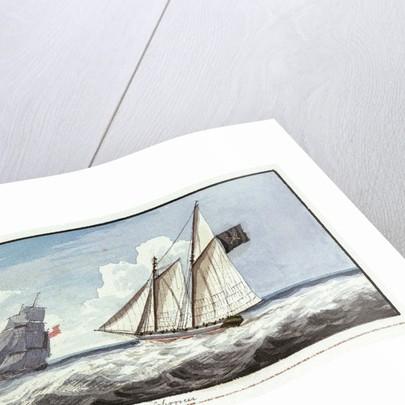 Pirate schooner by Edward Bamfylde Eagles