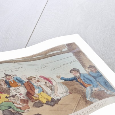 A sketch on board a Margate Hoy by P. Roberts
