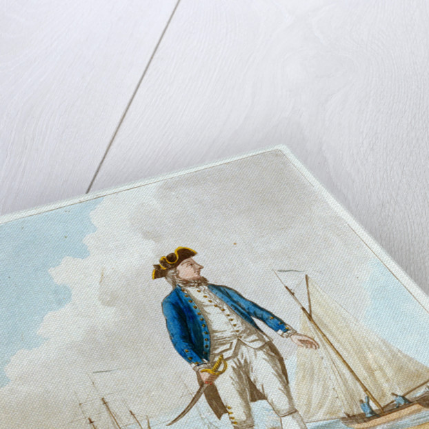 A midshipman with a long boat by D. Serres