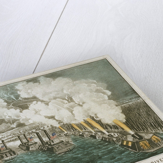 Bombardment of Island 'Number Ten' in the Mississippi River By the Gunboat and Mortar fleet, under the command of Flag Officer A.H. Foote by Currier & Ives (publishers)