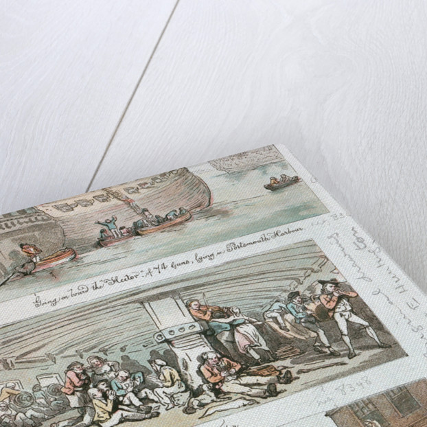 Middle-deck of the man-of-war 'Hector' by Thomas Rowlandson