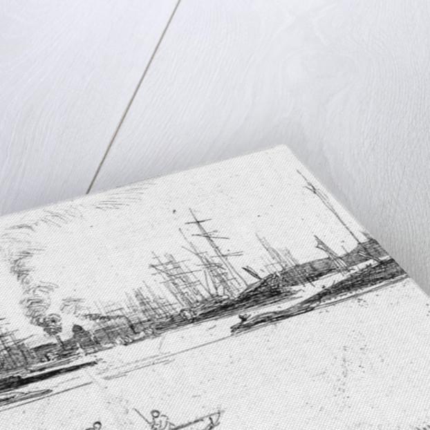Thames warehouses by James Abbott McNeill Whistler