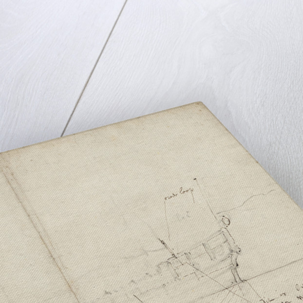 Sketch profile of a States yacht by Willem Van de Velde the Younger