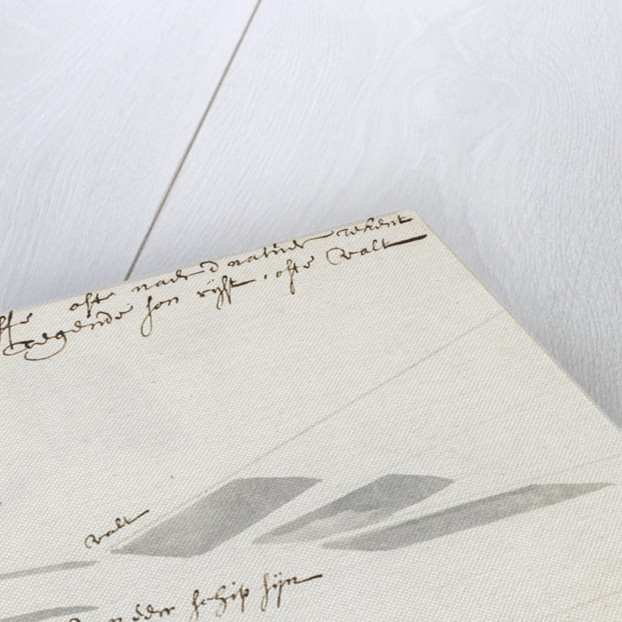 A note on the drawing of shadows by Willem Van de Velde the Younger