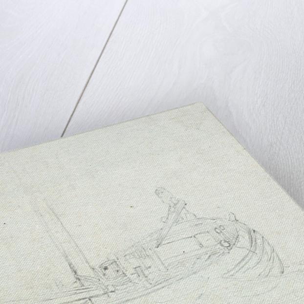 A dogger at sea by Willem van de Velde the Elder