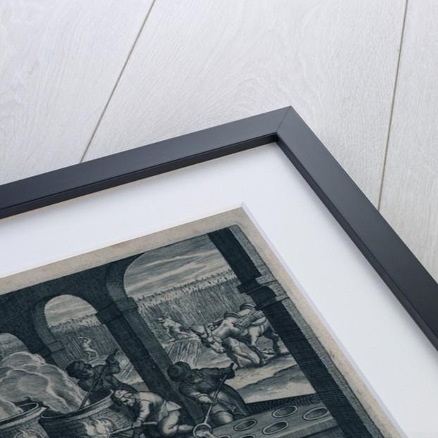 Saccharum. Qua Saccharum paretur arte, plurimis. Pictura, quam vides, docebit te modis. (Gunpowder) by Johannes Stradanus
