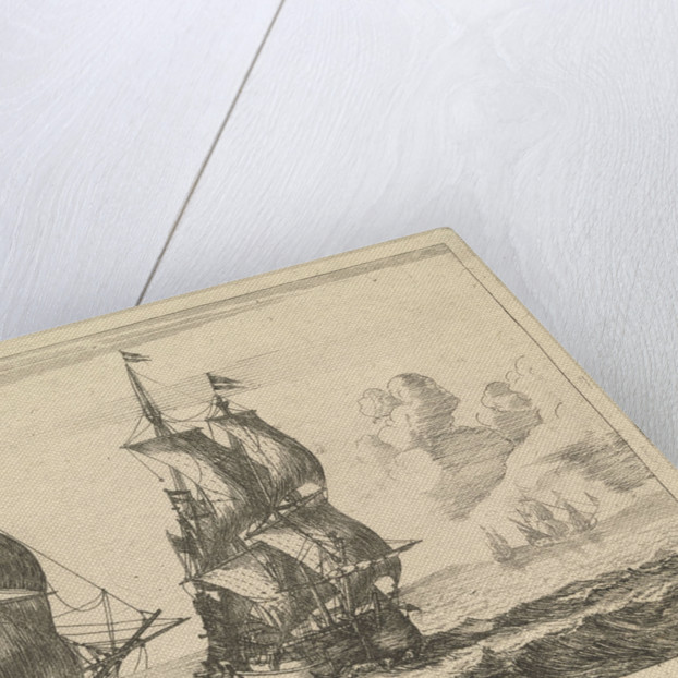 The Dutch ships 'Liefde' and 't'Geele Fortuyn' by Reinier Nooms