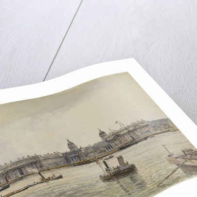 Royal Naval College, Greenwich, from the river by John Fulleylove