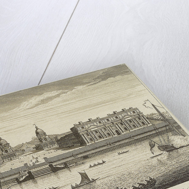 A view of Greenwich Hospital taken from the River by Millam
