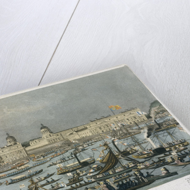 Royal aquatic excursion to Greenwich Hospital by Robert Havell