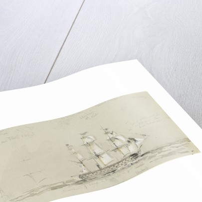 HMS 'Edinburgh', 14 March 1854 by Oswald Walter Brierly