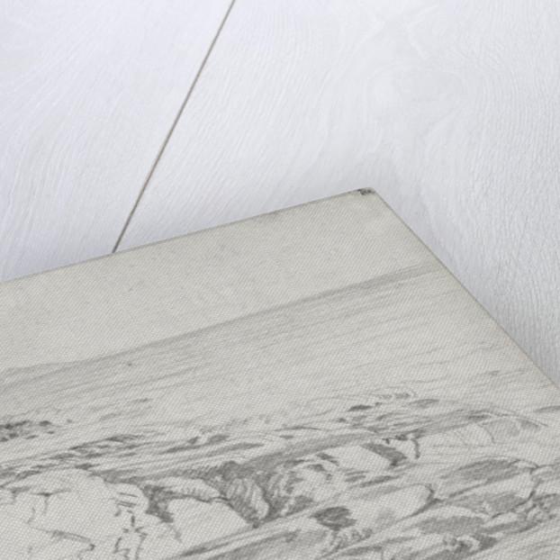 Sketch of a promontory of Dooagh by John Brett