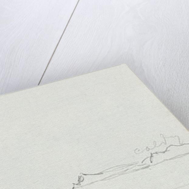 Sketch of a coastal view of Point Giltar by John Brett